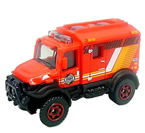 Matchbox Ambulance Krankenwagen - 4x4 SCRAMBULANCE rot - MBX Heroic Rescue - Rettungswagen Ambulance Sani Rotkreuz Rettung Ambulanz Malteser Notarzt KTW