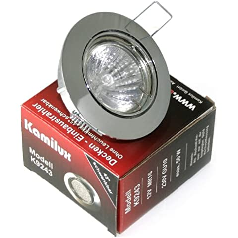 Conjunto de 19 dreamlights Lisa 230 V GU10 IP20 color cromo halógeno 50 Watt intensidad regulable