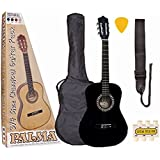 palma pl34roft kit de guitare junior taille 3-4 rouge