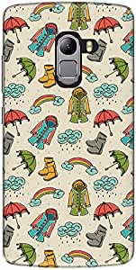 The Racoon Lean printed designer hard back mobile phone case cover for Lenovo K4 Note. (Rainy Seas)