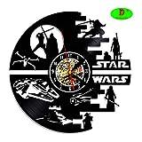 Star Wars Creative conçu Vinyle LP Horloge Murale Hanging-Decorate Votre Maison avec Moderne Grand Darth Vader-Handmade Cadeau pour Homme et Enfants
