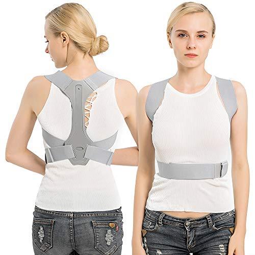 TURATA Haltungstrainer Rückenstütze Geradehalter zur Haltungskorrektur Verstellbare Rückentrainer Schulter Rücken Haltungsbandage gegen Rücken und Schulterschmerzen für Jugend Damen Herren (M)