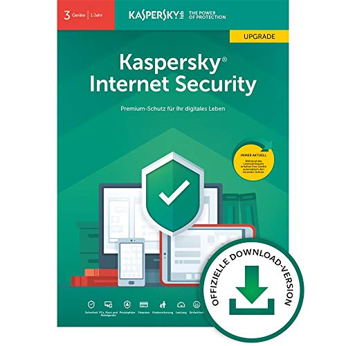 Kaspersky Internet Security 2019 Upgrade | 3 Geräte | 1 Jahr | Windows/Mac/Android | Online-Code | Download