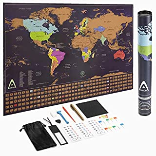 Scratch Off World Map Poster, 24