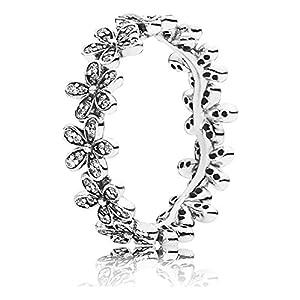 Pandora Damen-Ring Glanzvolles Gänseblümchen-Band 925 Silber Zirkonia weiß – 190934CZ