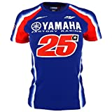 Maverick Vinales 25 Moto GP Yamaha Factory Racing Femmes T-shirt Officiel 2018