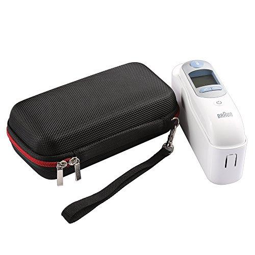 RETT® Custodia per Braun ThermoScan 7 Caso Portatile Viaggio in EVA Anti-Shock Cover per Braun ThermoScan 7 Altoparlante Bluetooth(Nero)
