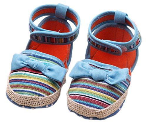 Smile YKK Liebe Baby Krabbelschuhe Mädchen Schuh Lauflernschuhe Baumwolle Blau Blau