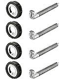 4 Stück - Schraubhaken Hängeschrank Schrankaufhänger zum Einbohren Küchen-Aufhänger für Möbel & Hängeschränke | Schrankaufhängung höhen-verstellbar inkl. Aufhänger | Tragkraft 25 kg | Möbelbeschläge von GedoTec®