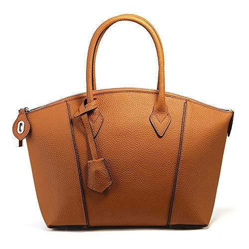 Designer Collection Fashion Handtasche Mit Anhänger Klassische Frauen Handtasche Handtasche Für Frauen Umhängetasche Geldbörse Leder Brown-31 x 14 x 26cm -