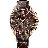 Hugo Boss Quarz-Armbanduhr 1513093 für Herren, Leder,braun