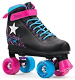 SFR Vision II Lights LED Rollschuhe Disco Roller Kinder schwarz-pink black, 32
