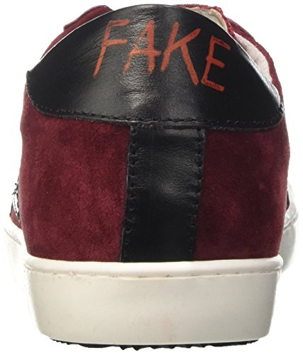 Fake By Chiodo Low F 844, Pompes à plateforme plate mixte adulte Rosso (Rosso/ Nero)