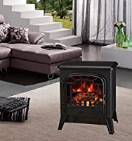 Lincsfire Modern Electric Fire Place Stove Fireplace Heater Flame Effect Stove 4 Type to Choose