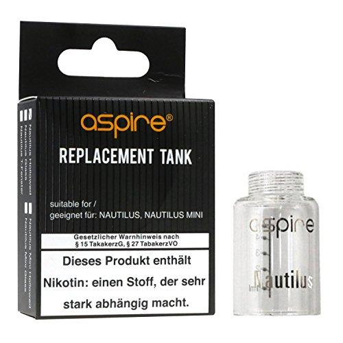 Aspire Nautilus Tank aus Glas, Aspire Ersatztank für e-Zigarette, 1 Stück