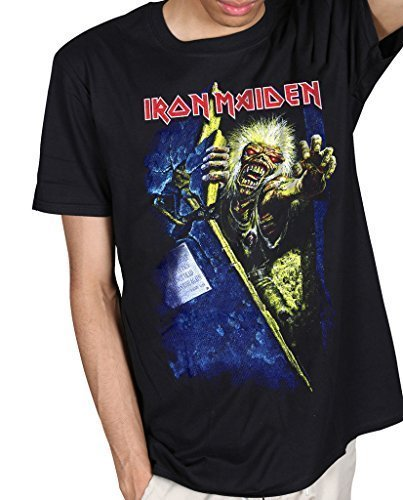 Official Iron Maiden No Prayer Eddie Unisex T-Shirt Some Where in Time Souls