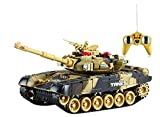 #10: VG Toys & Novelties Big Size Infrared Remote Control War Tank - Full Function - Rechargeable - SHOOTING MODE (40 MHz)