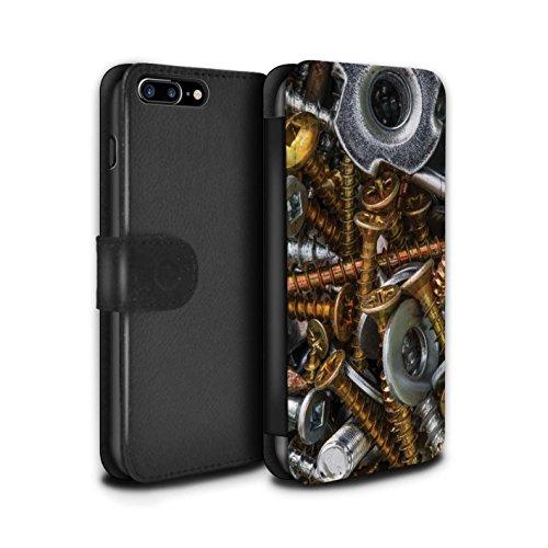 Stuff4 Coque/Etui/Housse Cuir PU Case/Cover pour Apple iPhone 7 Plus / Vis & Boulons Design / Matériel Bricolage Collection Vis à Bois