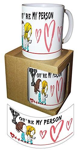 Tazza mug you are my person grey's anatomy con scatola - idea regalo san valentino - love amore