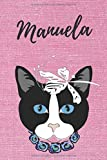 Manuela Notizbuch Katze / Malbuch / Tagebuch / Journal / DIN A5 / Geschenk:...