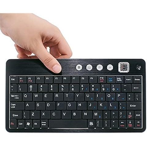 Bluetooth Portatile Wireless Keyboard Tastiera con Supporto per i Dispositivi