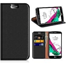 Funda LG G4, Mobest Funda Cuero LG G4, Funda Cartera LG G4, Funda Billetera, Carcasa en libro, Ranuras para Tarjetas, Soporte Plegable Para LG G4 - Negro