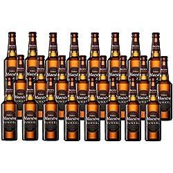 Mahou Maestra Dunkel Cerveza Extra Nacional - Pack de 24 x 33 cl - Total: 7920 ml