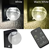 Picture Of Fineway ® Solar Motion Sensor Glass Globe SMD LED Wall Light W Remote Control Colour Changing Bright White or Warm White