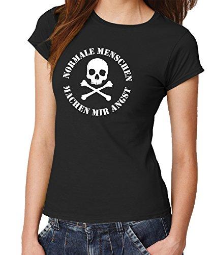 clothinx Damen T-Shirt Fit Normale Menschen Schwarz Gr. - Die Bild Toten