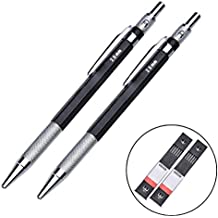 Youger 2 Pack 2.0 mm 2B soporte de plomo metal mecánico lápiz profesional de dibujo automático