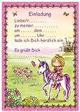 24-teiliges Einladungsset PRINZESSIN in DIN A5 vom Döll-Verlag // B33201 // 12 Einladungen und 12 Umschläge für Kindergeburtstag // Kinder Geburtstag Einladungskarten Einladung Karten