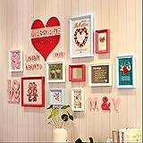 Foto an der Wand Hochzeitsgeschenke Restaurant Schlafzimmer Sofa Hintergrund Wand Hochzeit Zimmer Dekoration Bilderrahmen Dekoration (Farbe : A)