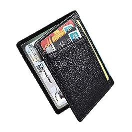 Portafoglio in pelle Uomo Piccolo Sottile RFID Porta Carte Credito Minimalista Viaggio Wallet Carte di Credito e Tasche…