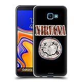 Head Case Designs Offizielle Nirvana Band Smiley Grunge Kunst Soft Gel Huelle kompatibel mit Samsung Galaxy J4 Core