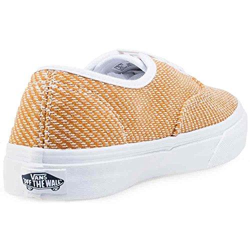 Vans Authentic Slim, Baskets Basses Mixte Adulte Gold White