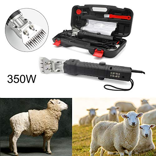 Topwill 350W Schafschermaschine Set, Elektrische Schafschere Fellpflege Schermaschinen Clipper für Nutztiere