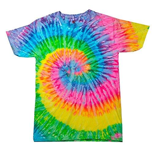 atik T-Shirt 'Rainbow' / Saturn, XXL (Neon Shirt)