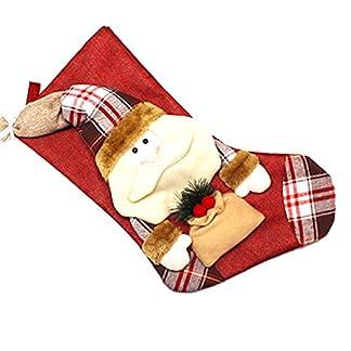 1pcs decoraciones de Navidad de Santa Claus muñeco de nieve de caramelo Calcetines regalos de la decoración del bolso-Santa Claus