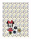 Minnie Mouse Babydecke Kinderdecke Kinderwagendecke Größe: 75 x 100 cm in Weiß mit Bunten Punkten