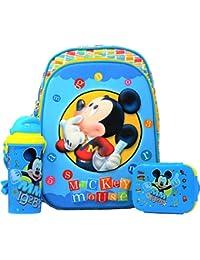 e4e8d77e0e HMI Original Disney Junior 12 inch 3D EVA Embossed Kids Backpack Combo Set  with Lunch Box   Water Sipper Bottle for Baby Boys   Girls…