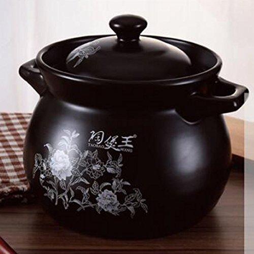 Pot De Soupe Par FONK Haute Température Anti-chaud épais Céramique Casserole De Rangement.,A-3.4L
