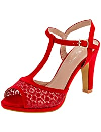 suchergebnis auf f r rote sandaletten schuhe. Black Bedroom Furniture Sets. Home Design Ideas