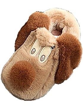 HKFV Winter süße Jungen und Mädchen Baumwolle Schuhe Pelz Welpen Muster Babyschuhe Mädchen Baumwolle Schafe Kinder...