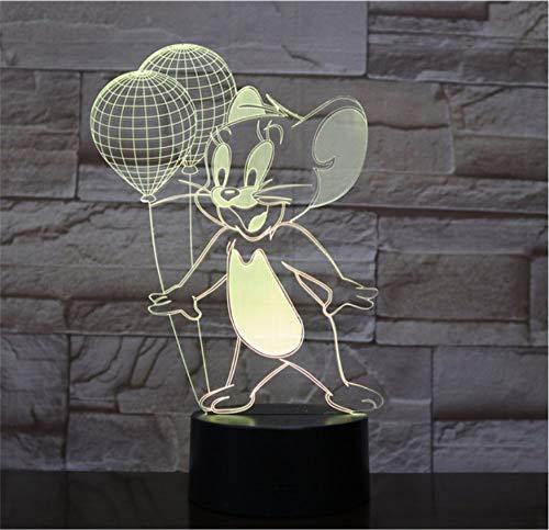 Klsoo Tom Und Jerry Tischlampe Schlafzimmer Dekoration Cartoon Touch Kinder Kinder Gadget Geschenk Maus Nachtlichter Led Usb Decor