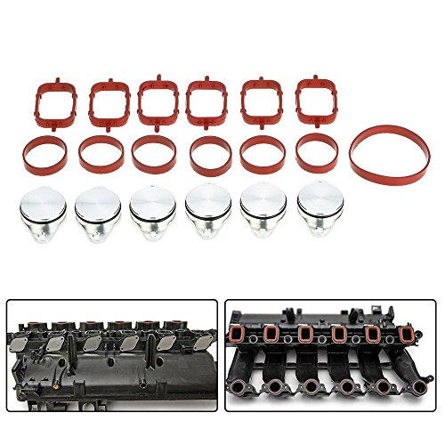 Price comparison product image KKmoon PIX0714135083080XH 6 Pcs 33Mm Diesel Swirl Flap Blanks Replacement Bungs with Intake Manifold Gaskets