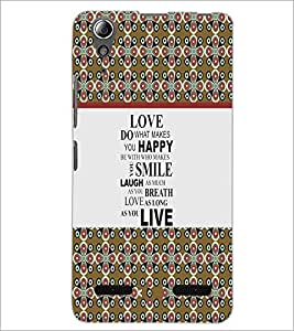 PrintDhaba Quote D-5755 Back Case Cover for LENOVO A6000 (Multi-Coloured)