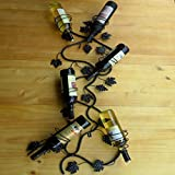 weingestell Rotwein-Racks Iron Wall Hanging American Rustikale Stil Wand Hanging Wein Rack auf der Wand Iron Art Vertikale Setzen Wein Rack Weinglas Frame Creative Red Wine Rack Weinregale