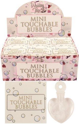 Berührbare Seifenblasen, Weiß, in Herzform, fangbar, tolles Gastgeschenk, für Hochzeit, 48 Stück