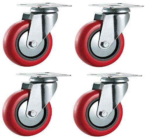 100-mm-de-poliuretano-ruedas-pivotantes-rojo-pu-heavy-duty-equipo-industrial-appliance-y-mueble-con-