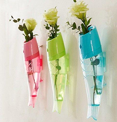 zum Aufhängen Kunststoff Zylinder Vase zum Aufhängen Blume Blumentopf Home Garten Dekoration (blau) (Kunststoff-zylinder Vase)